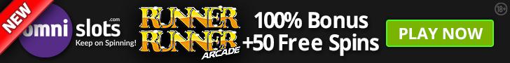 Omnislots Banner 100% bonus + 50 free spins